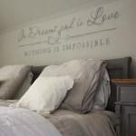 Wandtekst slaapkamer