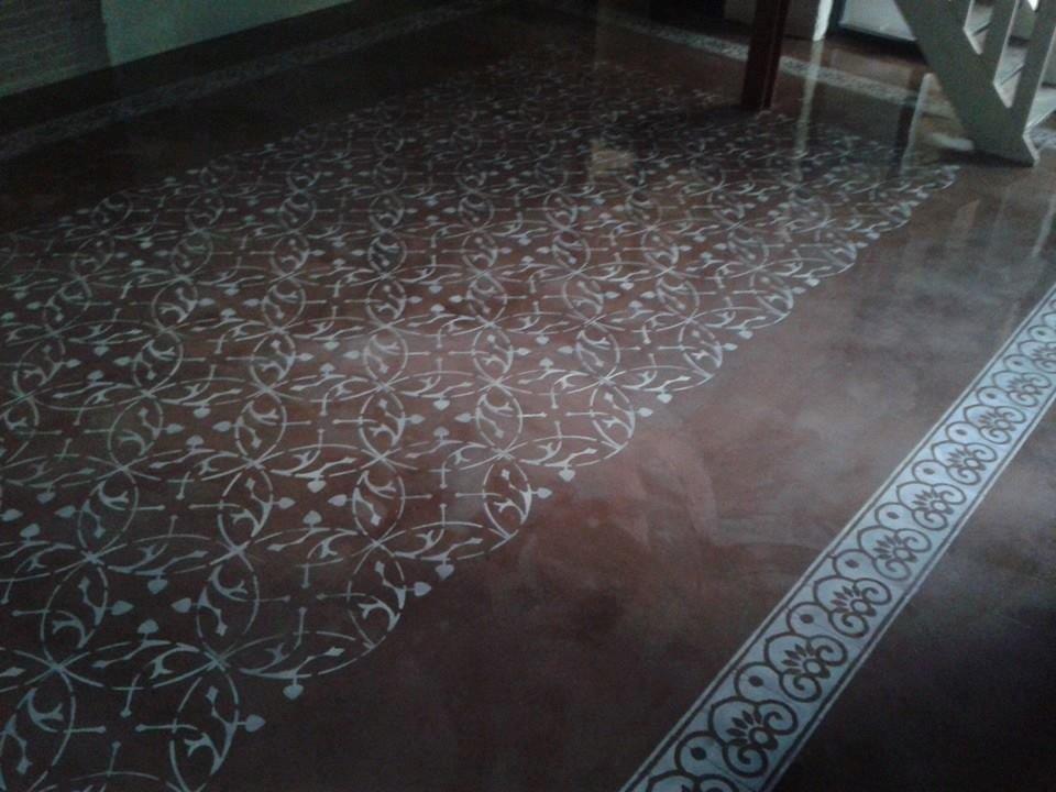 Geschilderde vloer