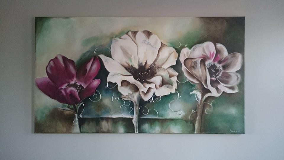 Schilderijen d colours for Schilderijen van bloemen