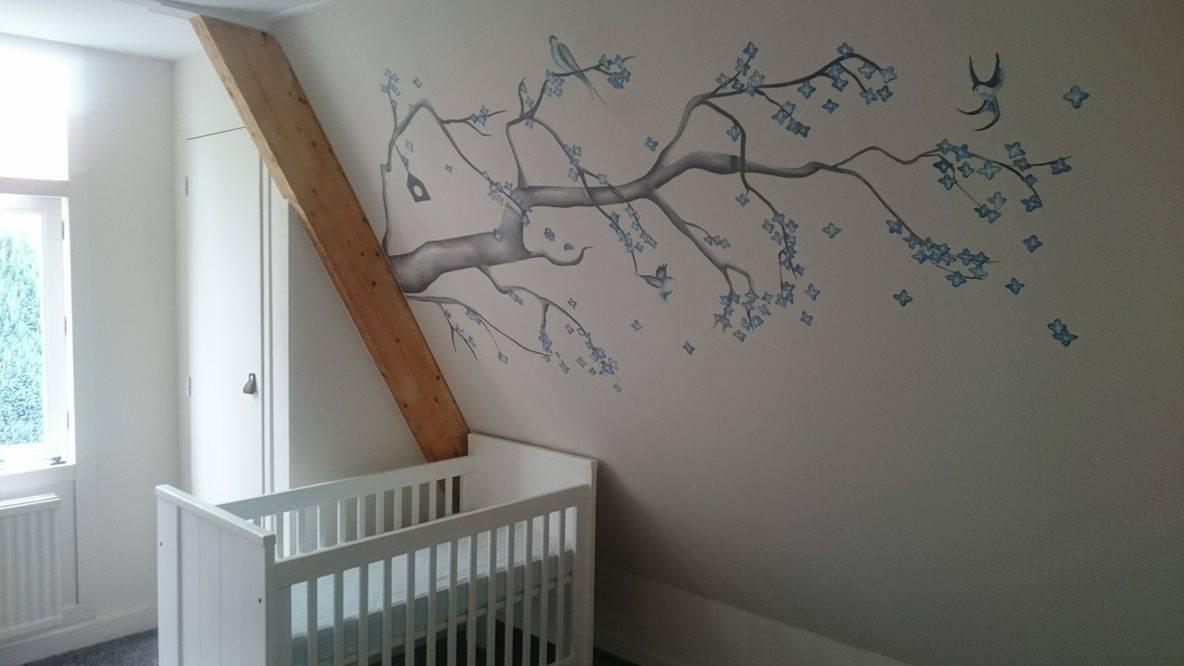 Boom Voor Babykamer.Muurschildering Voor Op De Babykamer